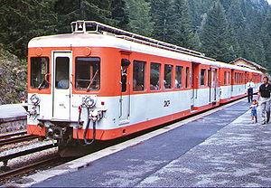 Une Z 600 en livrée orange/gris au Châtelard (16/07/1985).