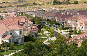 Lotissement p�riurbain, San Jos� (Californie)