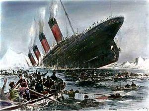 Le naufrage du Titanic dessiné par Willy Stöwer.