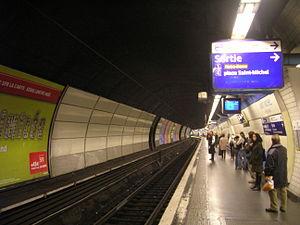 La station du RER B.