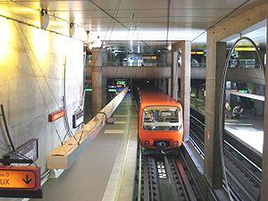 Station Gorge de Loup sur la ligne D