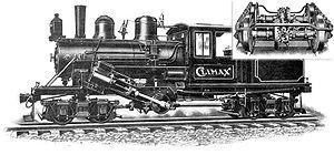 Une locomotive Climax