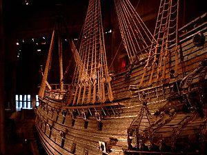 Un flanc du Vasa