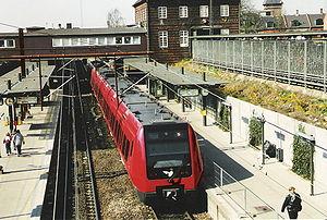 La gare de Valby, avec un S-Train de la 4e génération