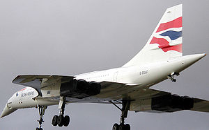 Le 216 lors du dernier de tous les vols de Concorde