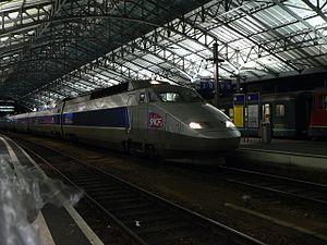 TGV Lyria en gare de Lausanne