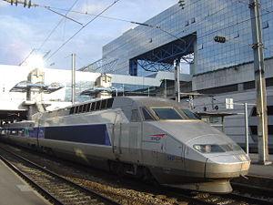 TGV en gare de Rennes.