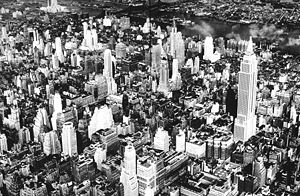 Le centre de Manhattan, en 1932