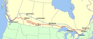 Itinéraire du Canadien