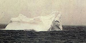 L'iceberg qui a sûrement fait couler le Titanic