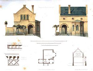 Plan d'une maison par Ferdinand von Arnim (1852)