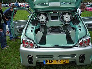 Tuning audio sur une Citroën Saxo