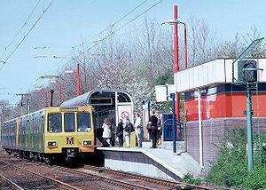 le  métro Tyne and Wear est le seul réseau du Royaume-Uni utilisant du courant continu 1500 V