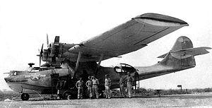 Un Catalina et son équipage.