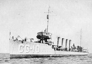 destroyer américain USS Burrows pendant les années 1920