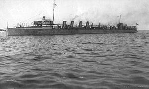 destroyer américain Macdonough en 1908