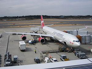 Airbus A340-600 de Virgin Atlantic à Tokyo Narita