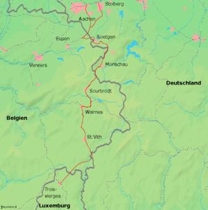 Le parcours de la Vennbahn