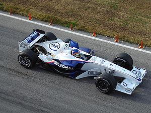 Villeneuve sur la BMW Sauber en 2006 lors d'essais privés à Valence.