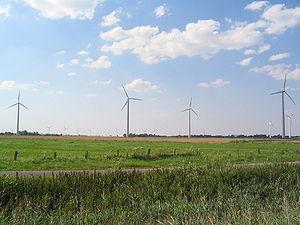 Éoliennes dans la campagne allemande