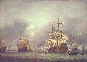La flotte des Pays-Bas en 1666