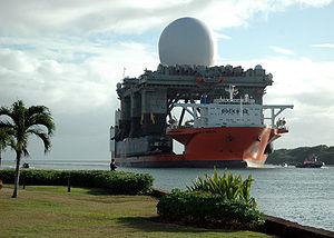 Le Blue Marlin transportant une plate-forme radar début 2006.