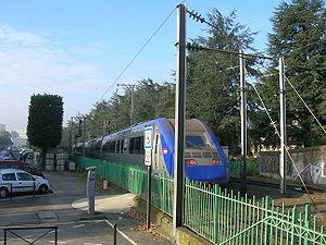 Une Z 21500 à Nantes (allée Baco) sortant de la gare (09/11/2006).