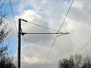 Ligne de contact 25 kV de type