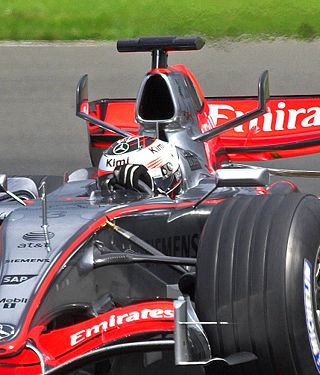 KImi Räikkönen au volant de la MP4-21 en avril 2006sur le circuit de Silverstone