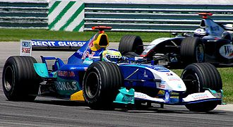 Sur la Sauber-Petronas au GP des Etats-Unis 2004.