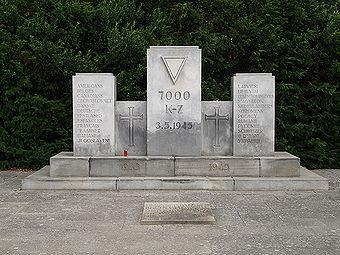 Mémorial international du Cap Arcona dans le cimetière du souvenir à Neustadt en Holstein