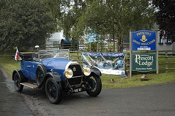 AM2, torpédo aluminium Melhuish & Co of Camden, 1925/26. Voyage été 2006 de 6366 km, Prescott Hill, Speed Hill Climb