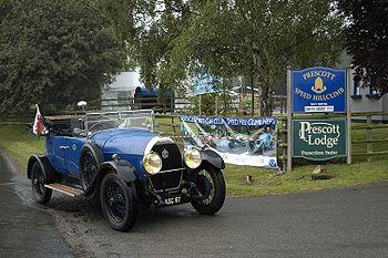 AM2, torpédo aluminium Melhuish & Co of Camden, 1925/26. Voyage été 2006 de 6366 km, Prescott Hill, Speed Hill Climb