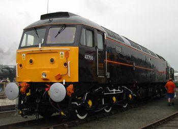 Ancienne locomotive royale n° 47798 Prince William à l'occasion de la fête Rail200 au National Railway Museum le 1er juin 2004.