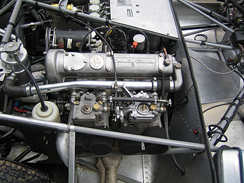 Climax FWA 1098cc dans une Lotus 17, Pau GP historique 2007