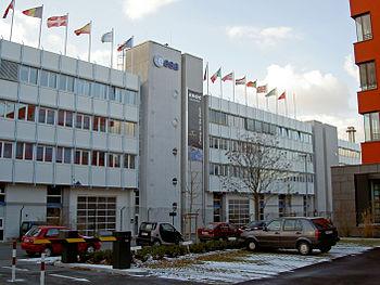 Bâtiment de l'ESA à Darmstadt en Allemagne