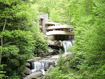 Fallingwater house (ou Maison de la cascade) (1936), Pennsylvanie