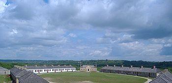 Le Fort Snelling, en service de 1825 à 1946.