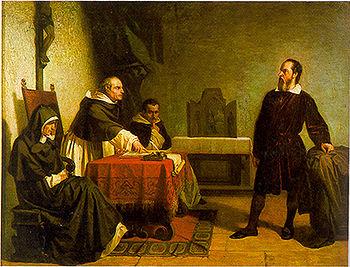 Galilée face au tribunal de l'Inquisition Catholique Romain peint en 1857 par Cristiano Banti.