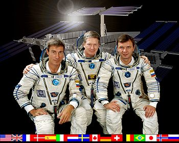 Expédition 1, Sergei Krikalev, William Shepherd & Yuri Gidzenko en 2000