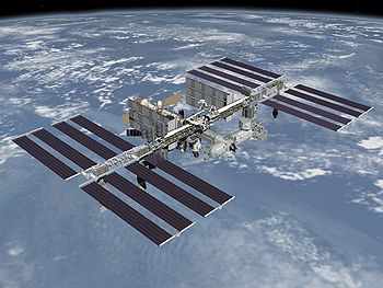 Vue d'artiste de l'ISS au complet fin 2010