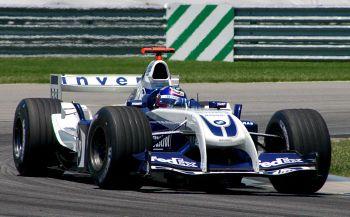 Juan Pablo Montoya au volant de la Williams FW26