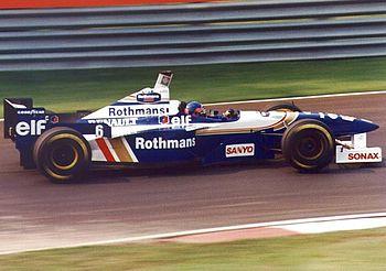 Jacques Villeneuve au volant de la Williams FW18