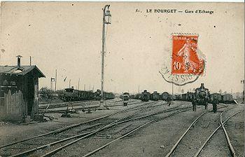 La gare d'échange du Bourget alimentait le triage du Bourget-Drancy