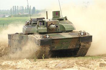 Char Leclerc en action