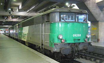 La BB 9208 en gare Montparnasse.