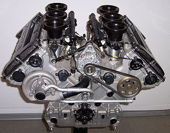 Moteur � combustion interne V6 d'automobile