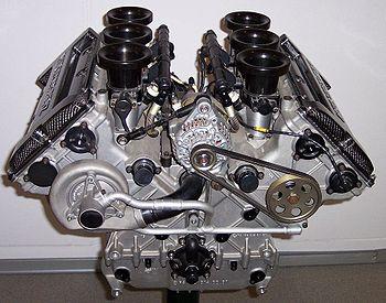 Moteur à combustion interne V6 d'automobile