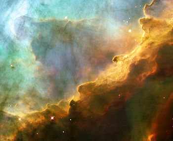Nébuleuse M17: photographie prise par le télescope Hubble.