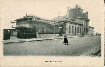 La gare de Pantin dans les années 1900